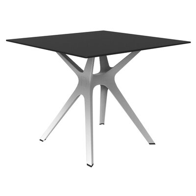 Holthaus Dinning Table Base Finish: White, Top Finish: Black