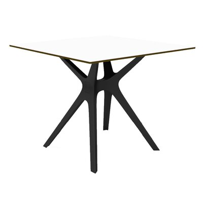 Holthaus Dinning Table Base Finish: Black, Top Finish: White