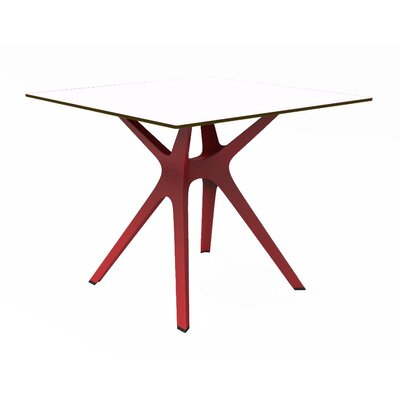 Holthaus Dinning Table Base Finish: Red, Top Finish: White