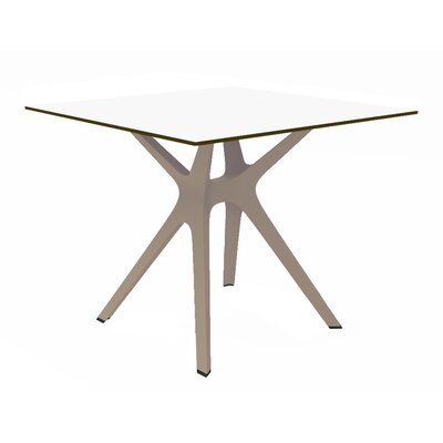 Holthaus Dinning Table Top Finish: White, Base Finish: Sand