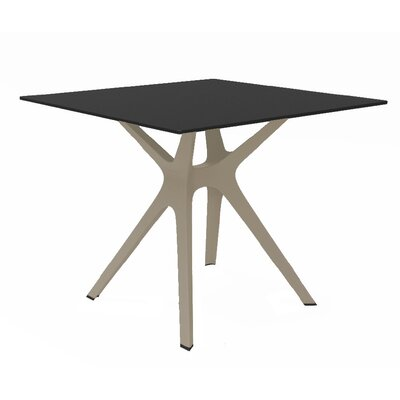 Holthaus Dinning Table Base Finish: Sand, Top Finish: Black