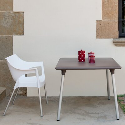 Flash Square Dining Table Top Finish: Warm Gray