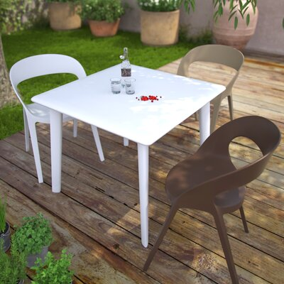 Dessa Square Dining Table Finish: White