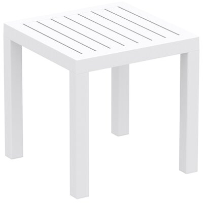Gina End Table Color: White