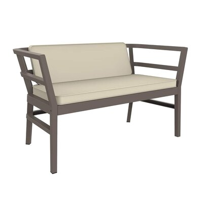Gina Loveseat with Cushions Finish: Warm Gray