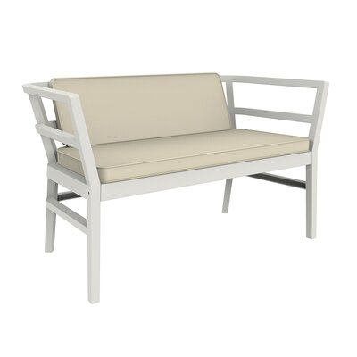 Gina Loveseat with Cushions Finish: White