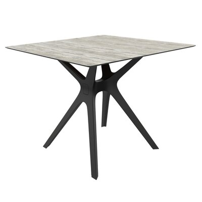 Holthaus Dining Table Base Finish: Black, Top Finish: Washed Wood