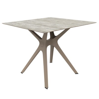 Holthaus Dining Table Base Finish: Sand, Top Finish: Washed Wood