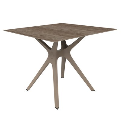 Holthaus Dining Table Base Finish: Sand, Top Finish: Ashen Oak