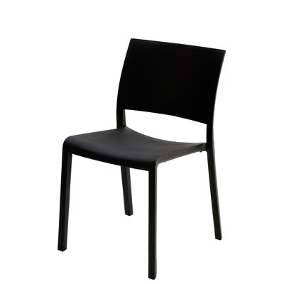 Fiona Side Chair (Set of 2) Finish: Black