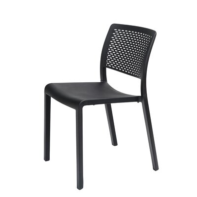 Trama Side Chair (Set of 2) Finish: Black