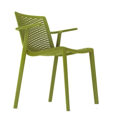 Netkat Armchair (Set of 2) Color: Olive Green