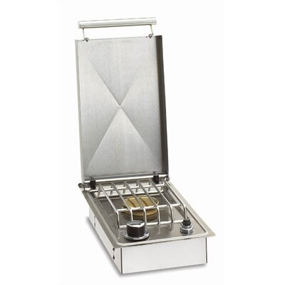 Single Countertop Island Side Burner in Stainless Steel Gas Type: Propane Gas