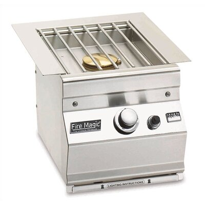 Island Slide-In Side Burner Sideburner Size: Double, Sideburner Color: Stainless Steel, Gas Type: Propane Gas