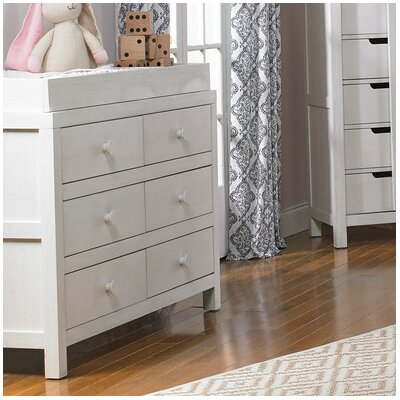 Castello 6 Drawer Double Dresser Color: Weathered Seashell White