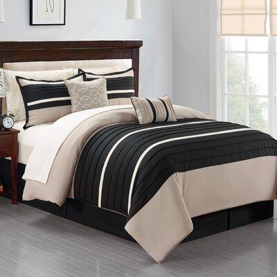 Daytona 10 Piece King Bed-In-A-Bag Set Size: King, Color: Black