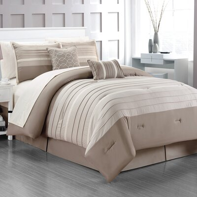 Daytona 10 Piece King Bed-In-A-Bag Set Size: Queen, Color: Linen