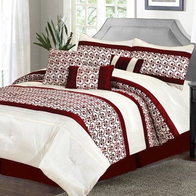 Fairfax 7 Piece King Comforter Set Size: King