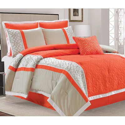 Lazio 7 Piece Comforter Set Size: Queen