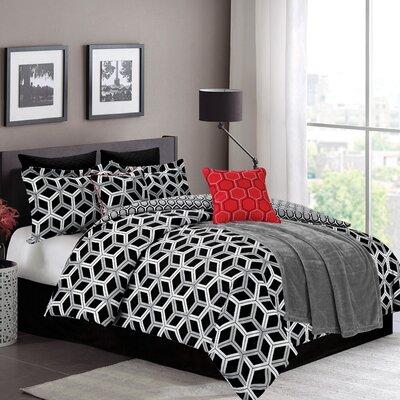 James 8 Piece Comforter Set Size: Queen