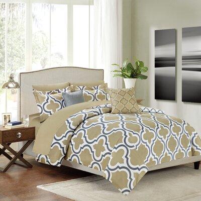 Warner Micorfiber 9 Piece Reversible Bed in Bag Set Size: Queen