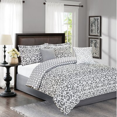 Braylin 5 Piece Queen Reversible Comforter Set