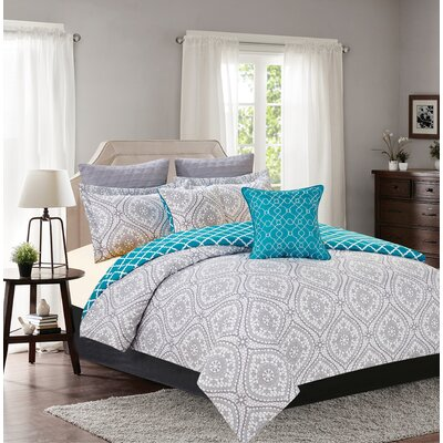Northbridge 7 Piece Reversible Comforter Set Size: Queen