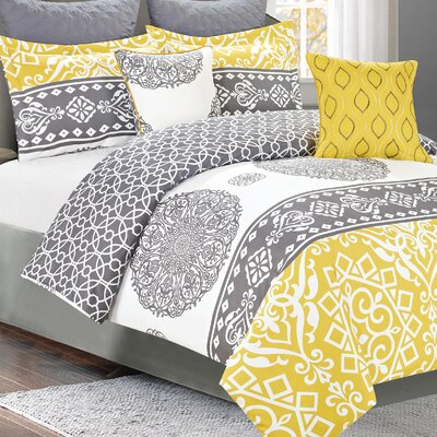 Nightingale 7 Piece Reversible Comforter Set Size: Queen