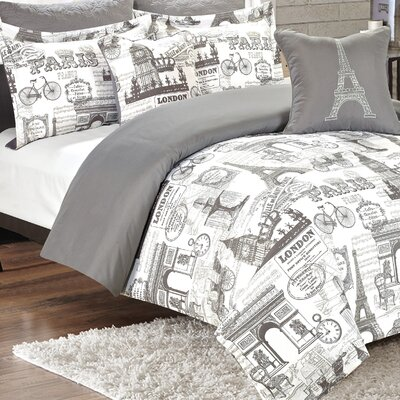 Coronel 7 Piece Reversible Comforter Set Size: King
