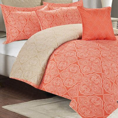 Noel 7 Piece Reversible Comforter Set Size: Queen