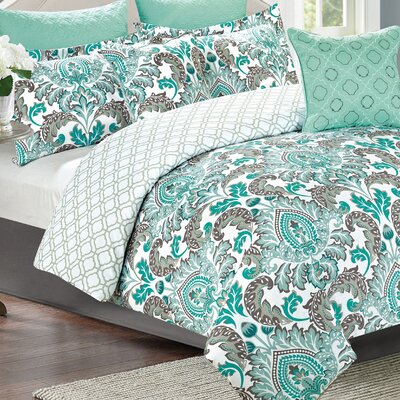 Nolan 7 Piece Reversible Comforter Set Size: King
