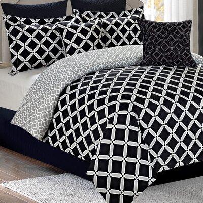 Nollet 7 Piece Reversible Comforter Set Size: King