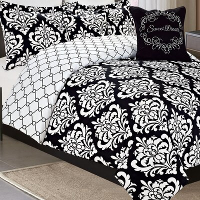 Norah 7 Piece Reversible Comforter Set Size: King