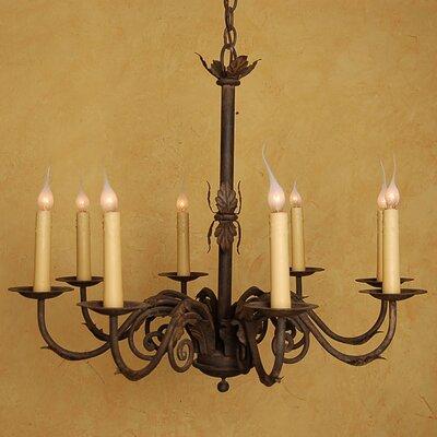 De Rosa 8-Light Candle-Style Chandelier