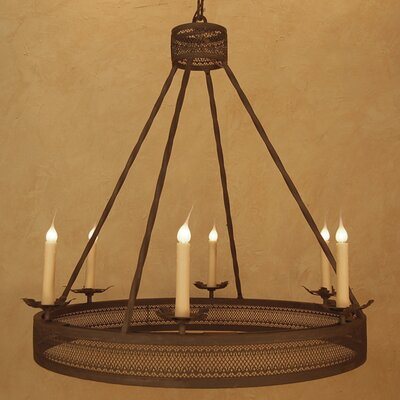 Champagne 6-Light Candle-Style Chandelier