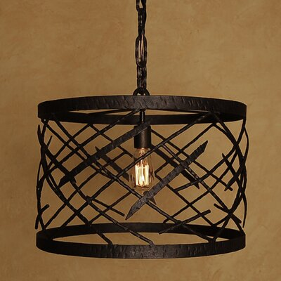 Twig 1-Light Drum Pendant