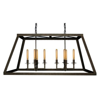 8-Light Kitchen Island Pendant Finish: Salmon Rust