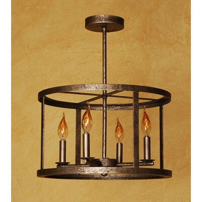 Vento 4-Light Candle-Style Chandelier Finish: Antique Silver