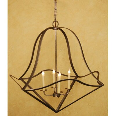 4-Light Foyer Pendant Finish: Salmon Rust
