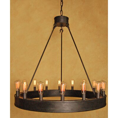 William 16-Light Candle-Style Chandelier Finish: Bronze Rust