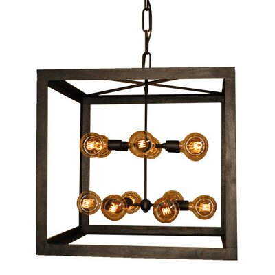 Edision 12-Light Foyer Pendant Finish: Wax Rust