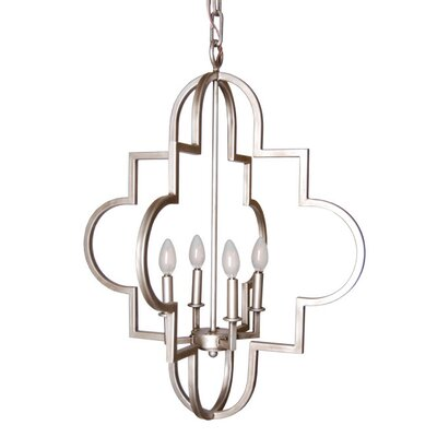 4-Light Foyer Pendant Finish: Smooth Gold