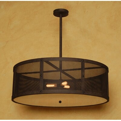 Robertson 3-Light Drum Chandelier Finish: Salmon Rust