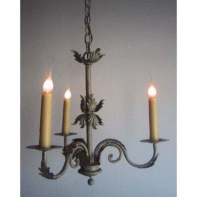 De Rosa 3-Light Candle-Style Chandelier