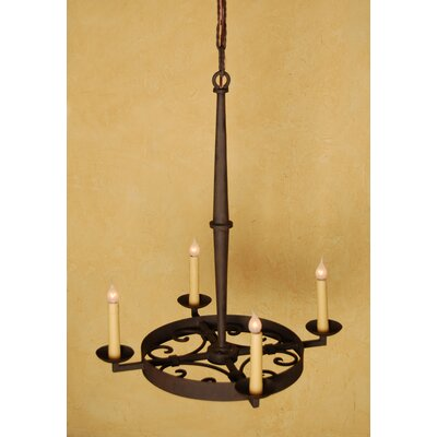 Leon 4-Light Candle-Style Chandelier