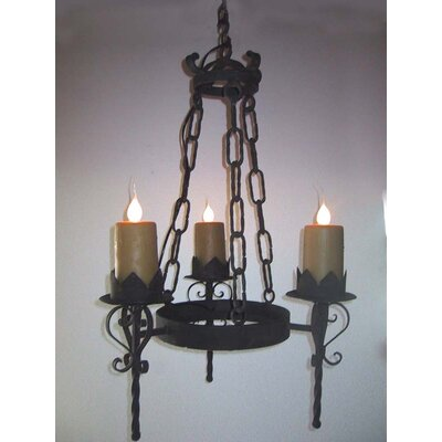 Gothic 3-Light Candle-Style Chandelier