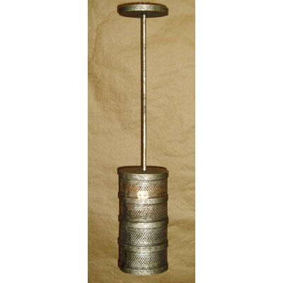 Cylinder 1-Light Drum Pendant