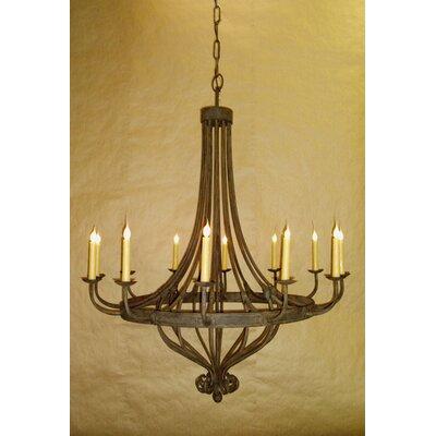 Monaco 12-Light Candle-Style Chandelier