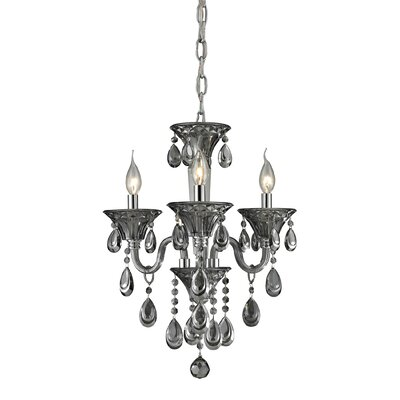 Formont 3-Light Crystal Chandelier Finish: Smoke Plated