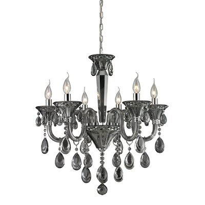 Kober 6-Light Crystal Chandelier Finish: Smoke Plated
